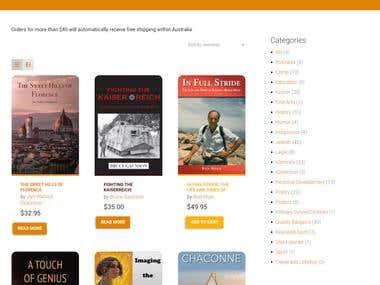 Hybrid Publishers eCommerce Website
