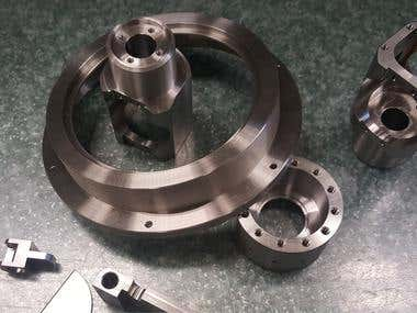 Designed and manufactured prototype parts
