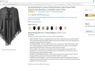 FASHION PRODUCT DESCRIPTION (ECOMMERCE/ AMAZON)