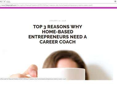 TOP 3 REASONS WHY HOME-BASED ENTREPRENEURS NEED A COACH