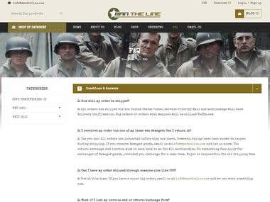 Man The Line eCommerce Website
