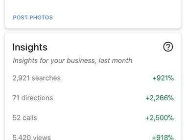 Accomplishment Google My Business