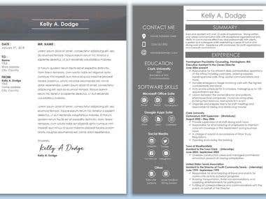 Cover Letter + Resume Design
