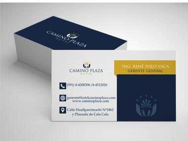 TARJETAS / Manejo de Imagen Corporativa Hotel Camino Plaza
