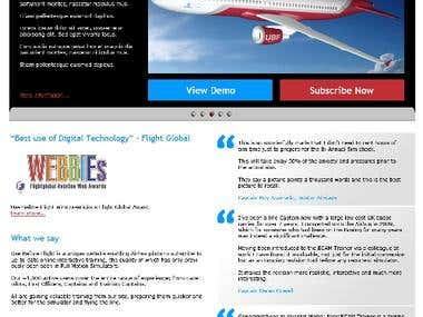 Website design concept for Air Charter Company