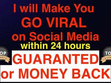 I can make you VIRAL on ANY social media within 24 HOURS