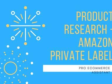 Product Research For Amazon Private Label