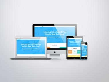 An IT Company Website Design and Responsive HTML Conversion