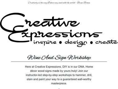 Creative Expressions Home Site