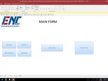 Microsoft Access Database for a Transport company