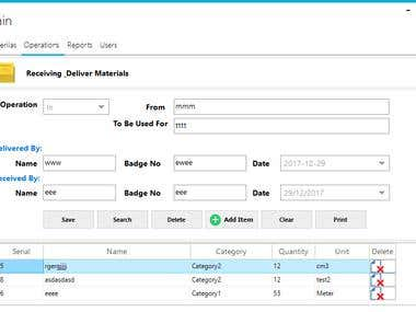 Desktop Inventory System