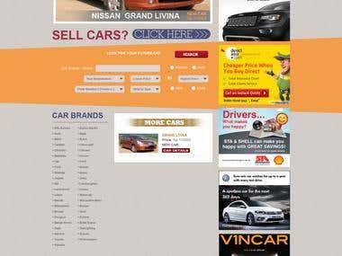 Car trading website