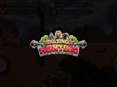 Promo for app game Real Jungle Hunting