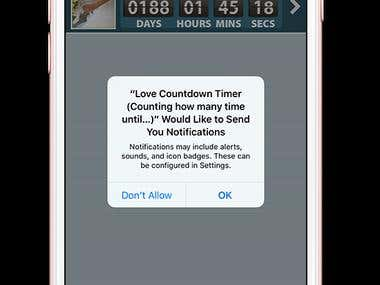 Cupid Love Countdown (Wedding, Honeymoon,Baby,..)