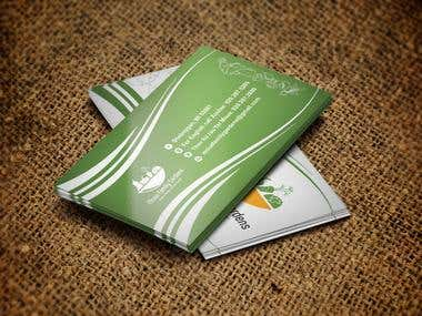 Business Card Design For Moua Family Garden