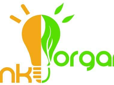 Local organic food product logo