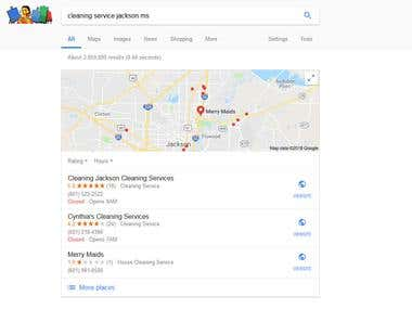 SERP in Google - Cleaning Jackson Cleaning Services