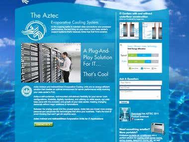 Evaporative Cooling for Server Room Website