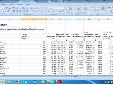 Create Excel sheet from PDF