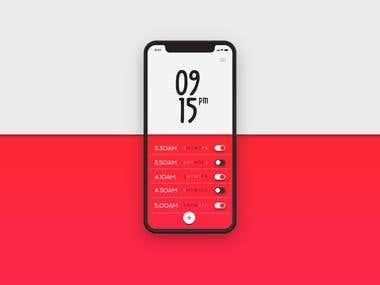 Simple Alarm App UI Design