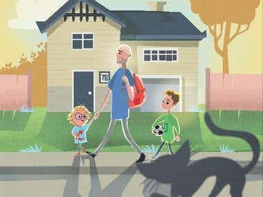 samples of children's book illustration