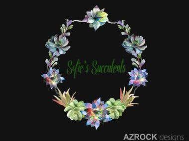 Succulents-Water Color Logo