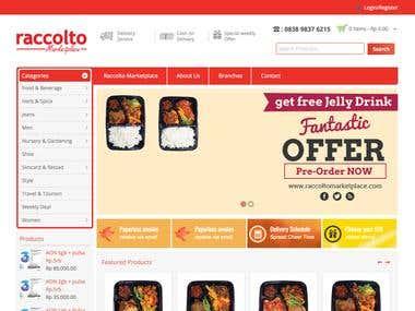 Raccolto Marketplace Website