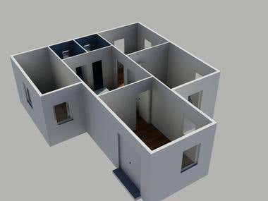 3D view of residential building