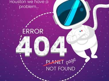 Customized 404 page for Joomla, Drupal and WordPress