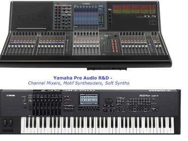 Yamaha Pro Audio R&D - Channel Mixers, Motif series Synths,