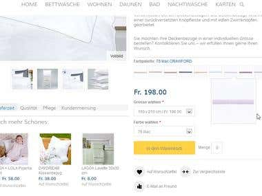 Magento product page customization work