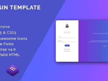 Login Template, Boostrap 4.0 and HTML5