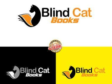 Blind Cat Books Logo Design