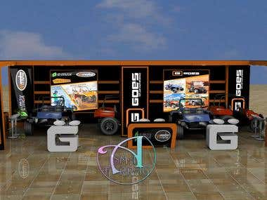3d booth design for car company