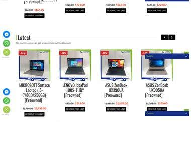 Laptop Factory Outlet - WordPress Woo-commerce Website