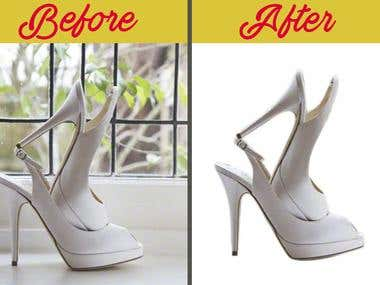 Background removal or clipping path