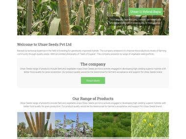 Seeds company website developed in wordpress