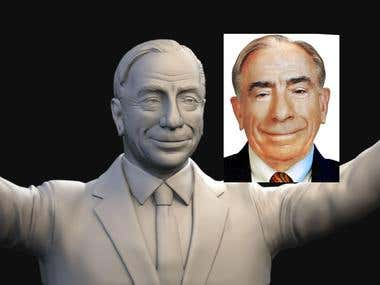 Politician likeness bust model