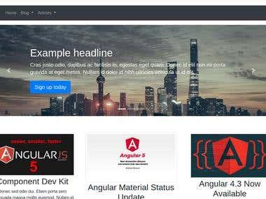 Angular 4 SPA wordpress Theme