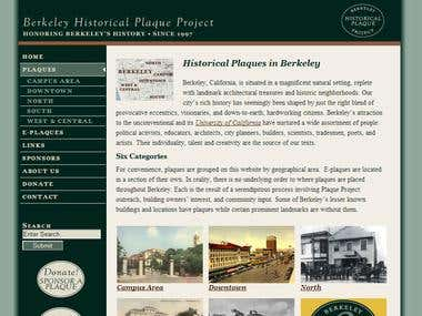 Berkeley Historical Plaque Project Website