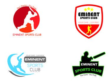 LOGOS for a Cricket Sports Club