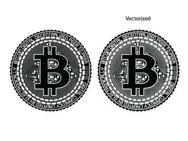 Bitcoin Raster to Vector conversion