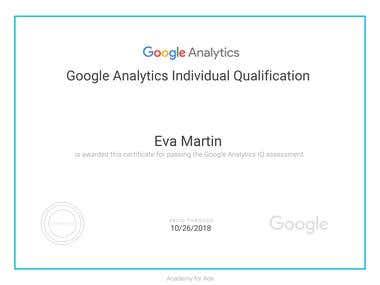 Google Analytics Certification