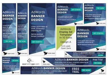 Google AdWords Banner Ads Design - 2 Variations