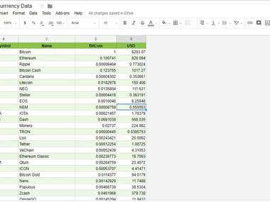 Connect API in Google sheets