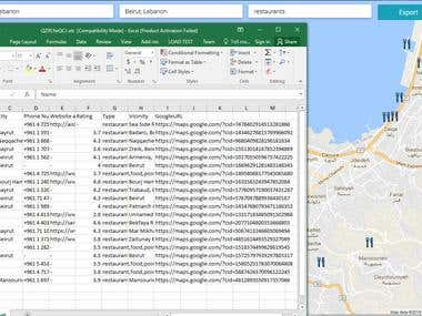 Google Map API - Exports Data To CSV