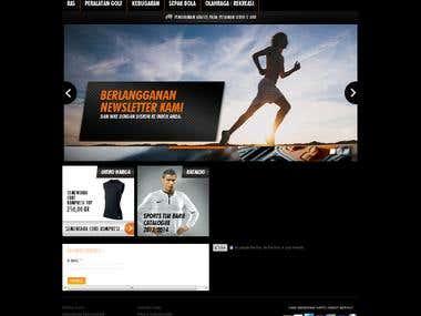Magento Sport Equipment Commerce site