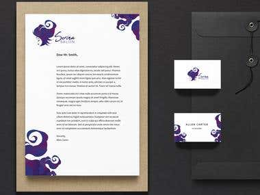 Stationery design for beauty saloon by GraphikMIRACLE.