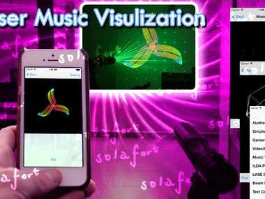 Laser Music Visualization