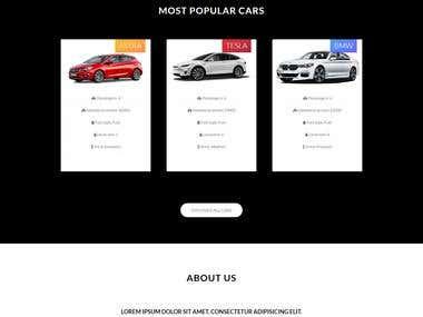 Rent a car website